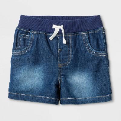 Baby Boys' Denim Shorts Fletcher Wash - Cat & Jack™ Blue 0-3M
