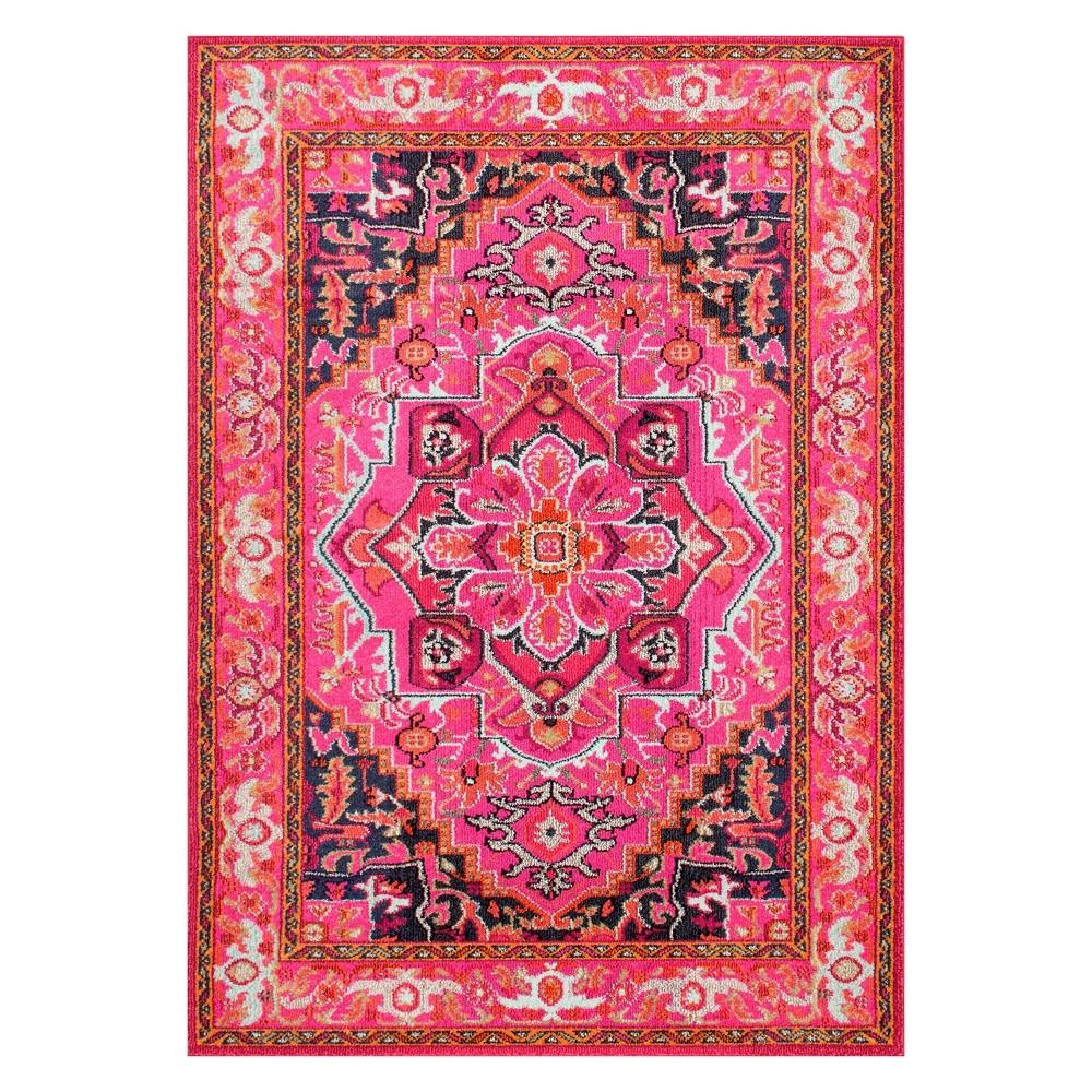 Pink Solid Loomed Area Rug 5'X8' - nuLOOM, Violet Pink