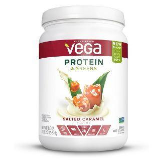 Vega Protein & Greens Vegan Powder - Salted Caramel - 18oz