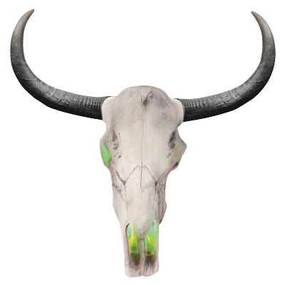 """Halloween Longhorn Skull 24 """" Lightup"""