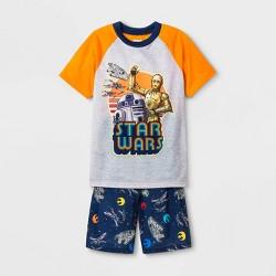 Boys' Star Wars 2pc Short Sleeve Pajama Set - Orange