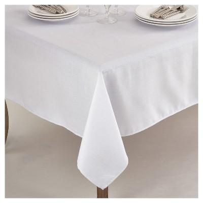White Elegant Shimmer Classic Tablecloth (70 )- Saro Lifestyle®