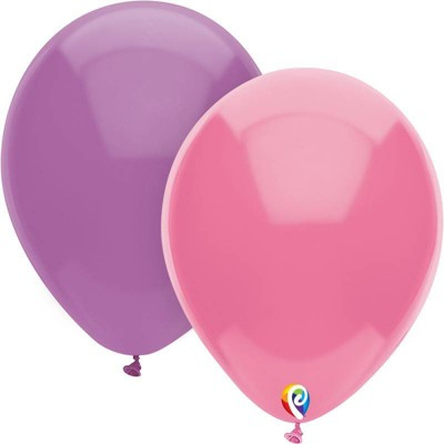 12ct Balloons Pack Pink/Purple