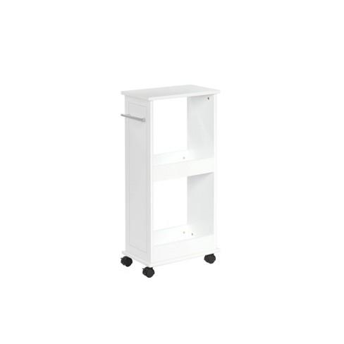 Portable Bathroom Storage Cart White - image 1 of 3