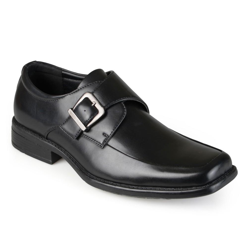 Men's Vance Co. Eli Square Toe Faux Leather Slip-on Loafers - Black 9.5