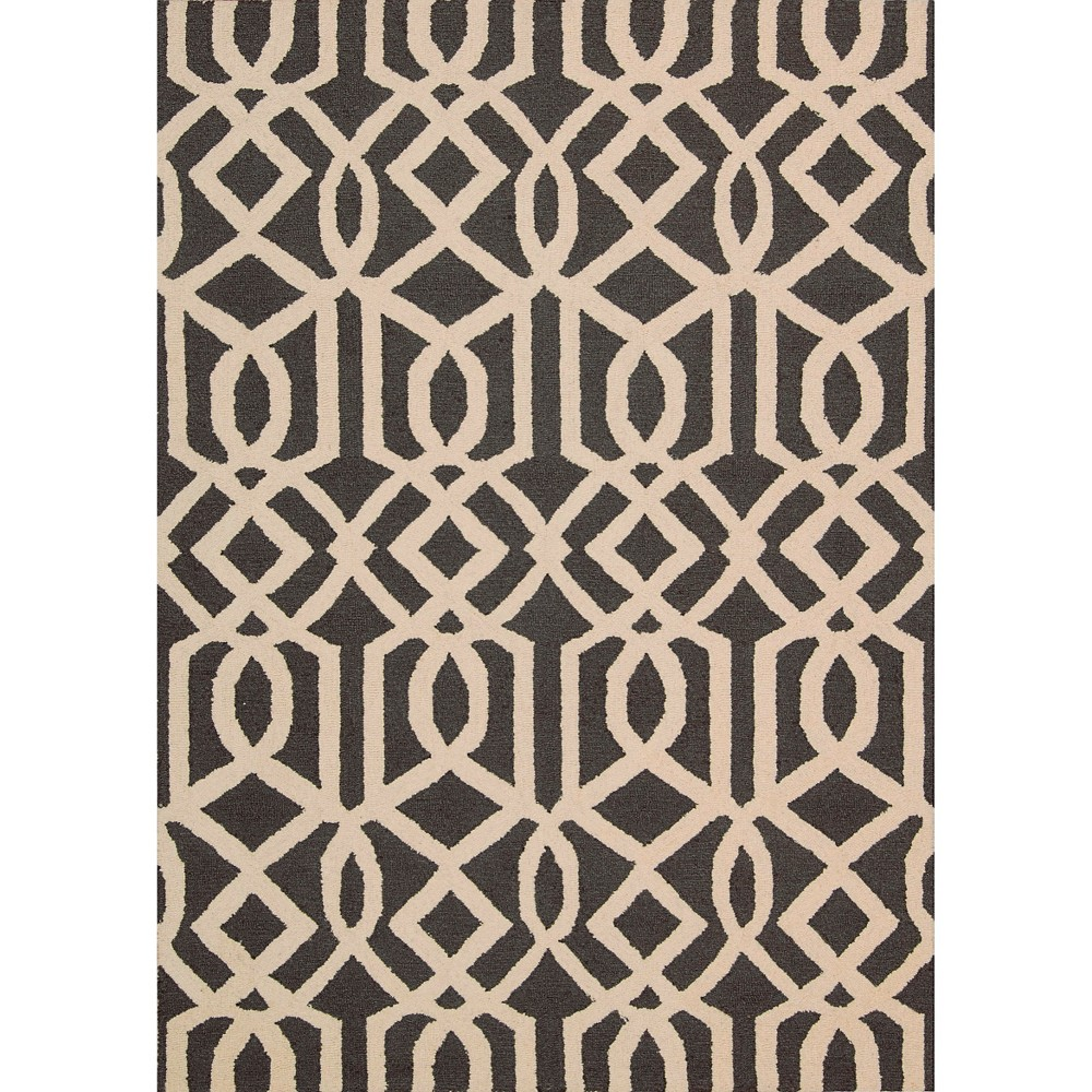 Image of Nourison Tribal Trellis Linear Area Rug - Gray/Ivory (8'X11')