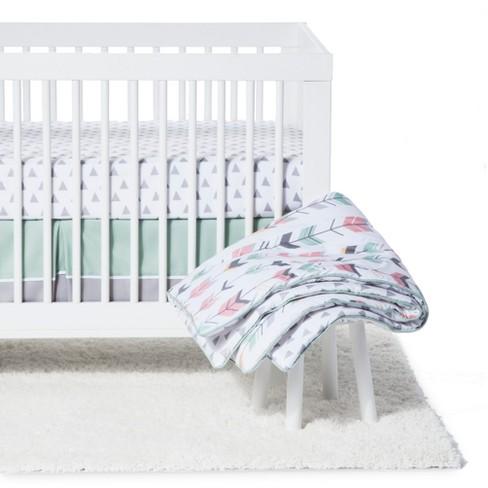 Sweet Jojo Designs Crib Bedding Set Mod Arrow C Mint 11pc