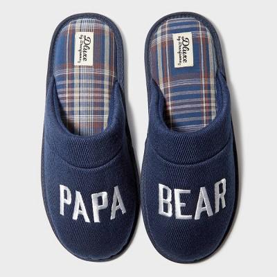 Men's dluxe by dearfoams Papa Bear Slide Slippers - Navy