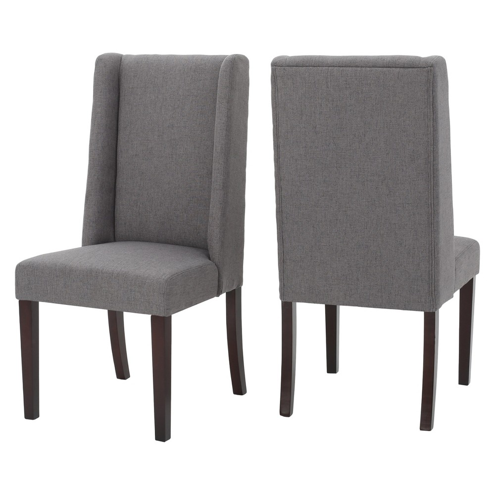 Rory Dining Chair (Set of 2) - Dark Gray - Christopher Knight Home