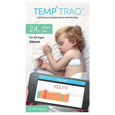Temp Traq 24 Hr Continuous Temperature Monitoring Patch - 2ct