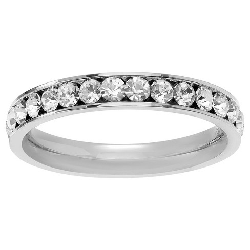 3/5 CT. T.W. Round-cut CZ Birthstone Eternity Channel Set Band in Sterling Silver - image 1 of 2