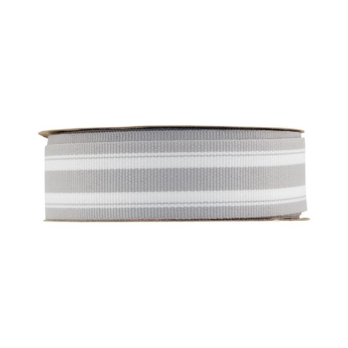 "Offray monochromatic Stripe - 7/8"" x 9ft - Silver - image 1 of 2"