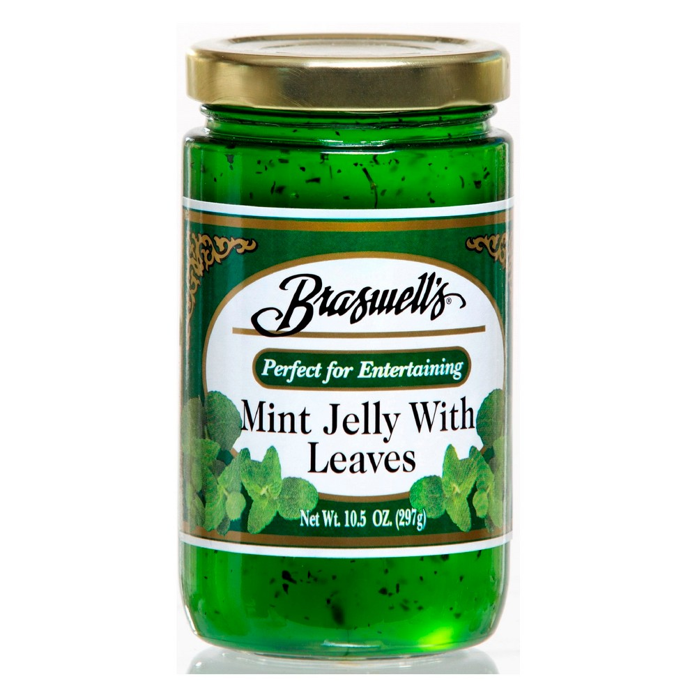 Braswell's Mint Jelly with Leaves - 10.5oz