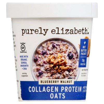 Purely Elizabeth Collagen Protein Oat Cup - Blueberry Walnut