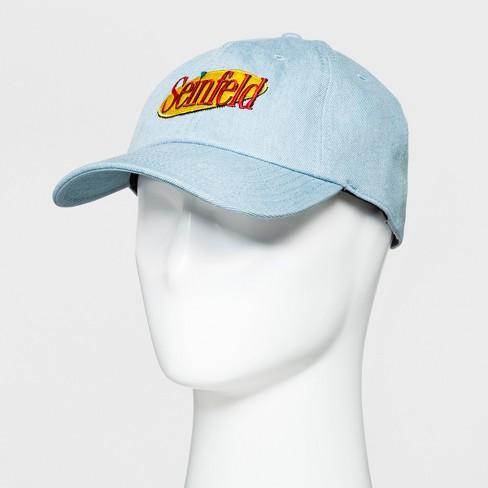 Men s Seinfeld Printed Baseball Hat - Blue   Target 274e66fe454