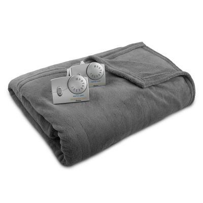Microplush Electric Blanket (Twin)Charcoal Gray - Biddeford Blankets