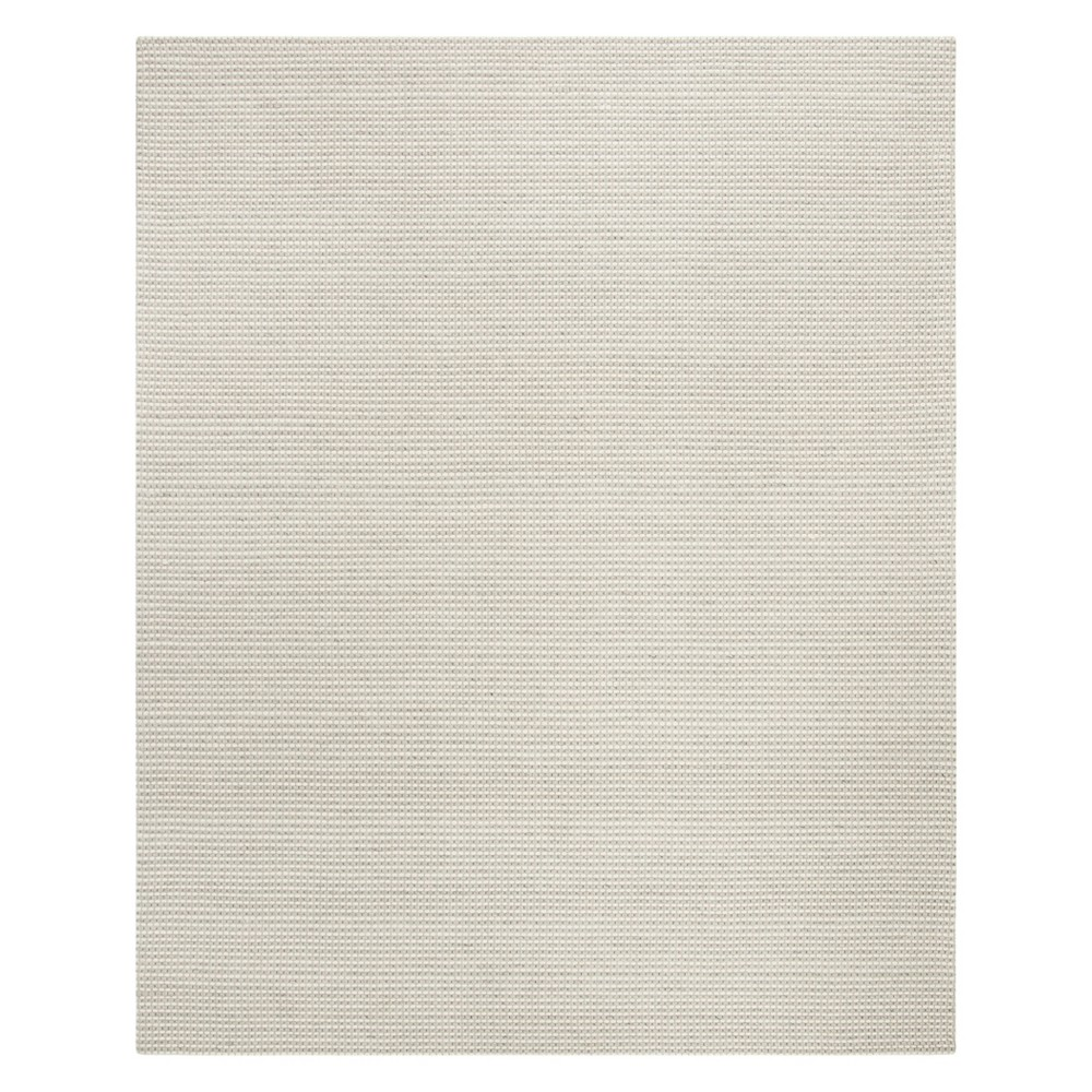 8'X10' Solid Woven Area Rug Silver/Ivory - Safavieh