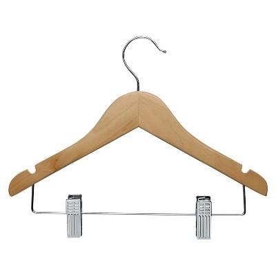Kid's Basic Hanger with Clips - Maple (10pk)