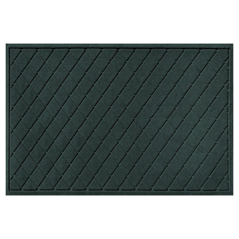 Evergreen (Green) Solid Doormat - (3'X5') - Bungalow Flooring