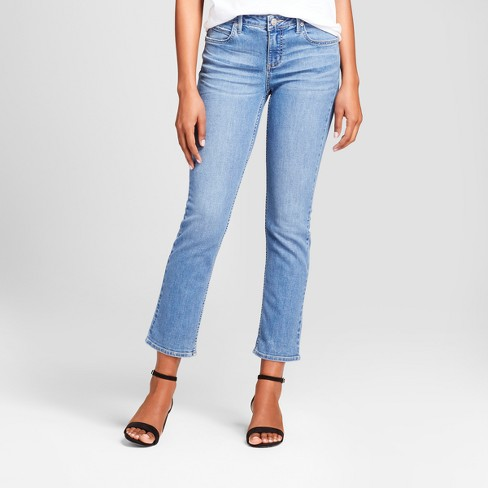 Women's Modern Fit Reworked Cuffed Slim Straight Crop Jeans - Crafted by Lee® - image 1 of 5
