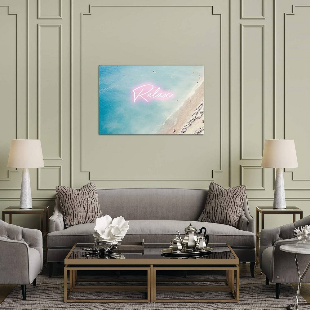 12 34 X 18 34 Neon Relax By Ruby And B Unframed Wall Canvas Print Icanvas