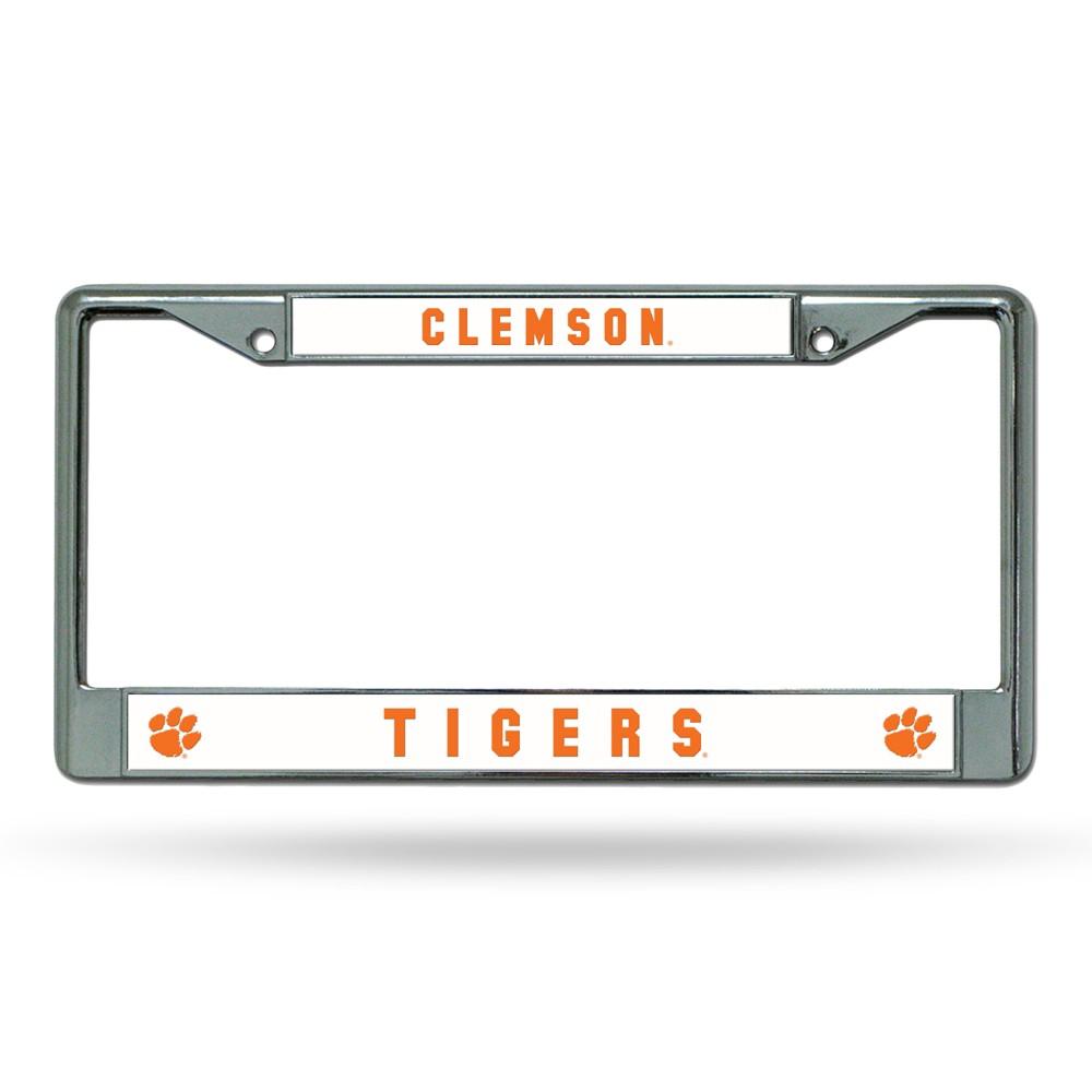 Clemson Tigers Rico Industries Chrome License Plate Frame