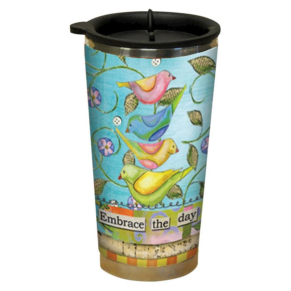 Image of Lang Plastic Embrace The Day Traveler Mug 16 oz, Multi-Colored