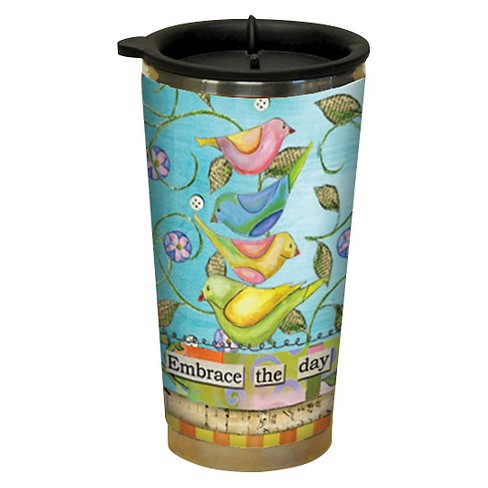 LANG Plastic Embrace The Day Traveler Mug 16 oz - image 1 of 1