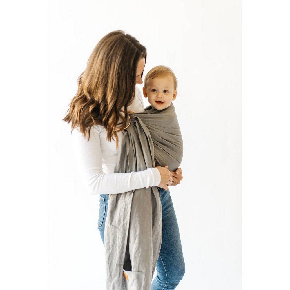 Image of Kyte BabyRing Sling in Birch with Rose Gold Rings