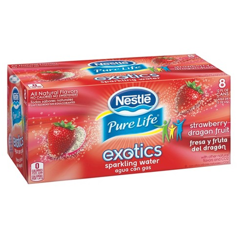 Nestle Pure Life Strawberry Dragon Fruit Sparkling Water 12 oz 8 pk - image 1 of 1