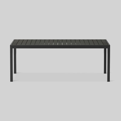 Bryant 6-Person Faux Wood Rectangle Patio Dining Table Black - Project 62™