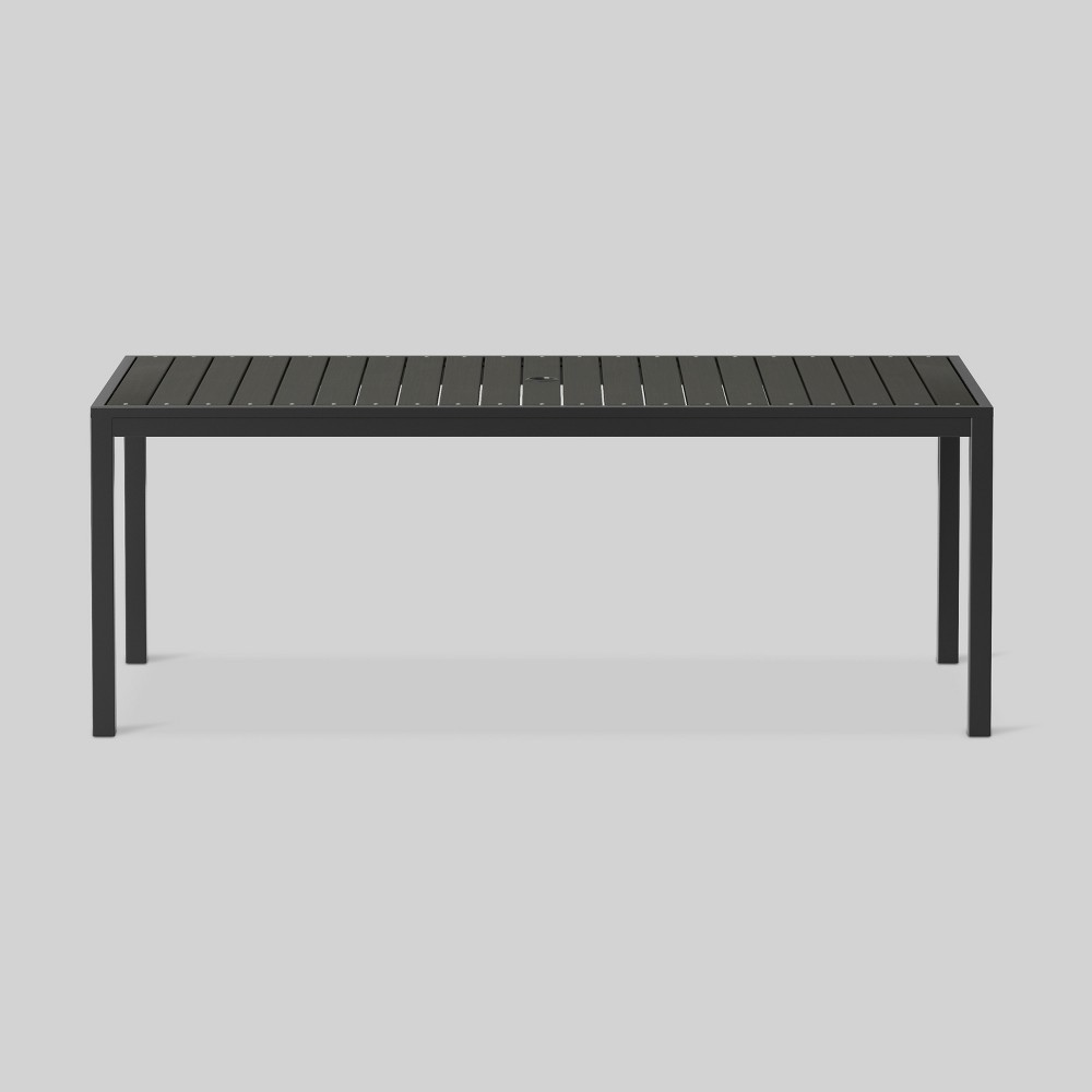 Bryant 6-Person Faux Wood Patio Dining Table Black - Project 62