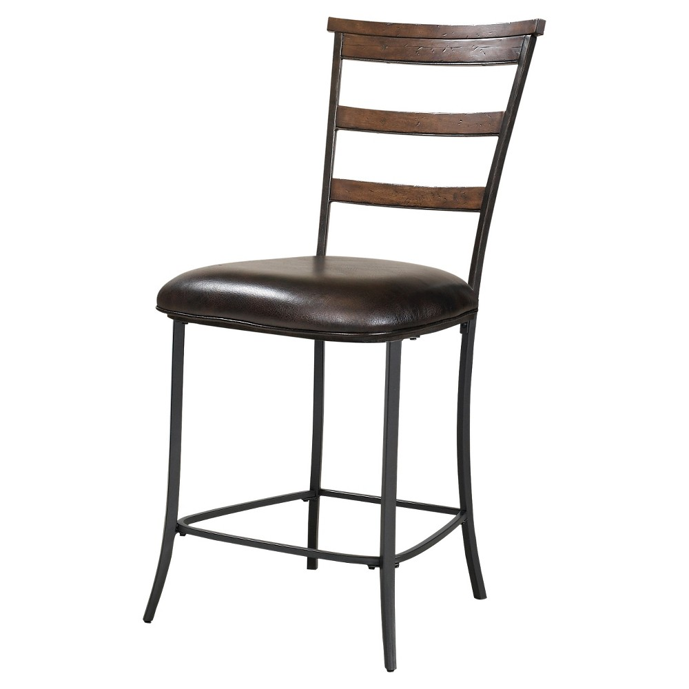 Cameron Ladder Back 26 Counter Stool Wood/Dark Chestnut (Brown) - Hillsdale Furniture
