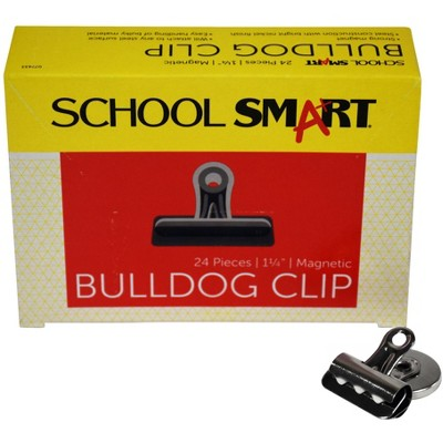 School Smart Magnetic Clip, 1-1/4 Inches, pk of 24