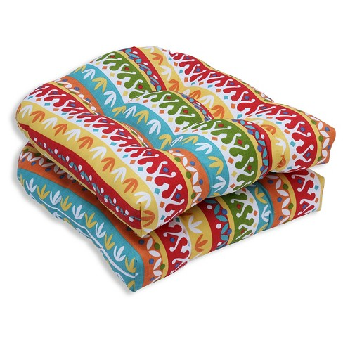 Pillow Perfect Cotrell Garden Outdoor Cushion Set Multi Colored