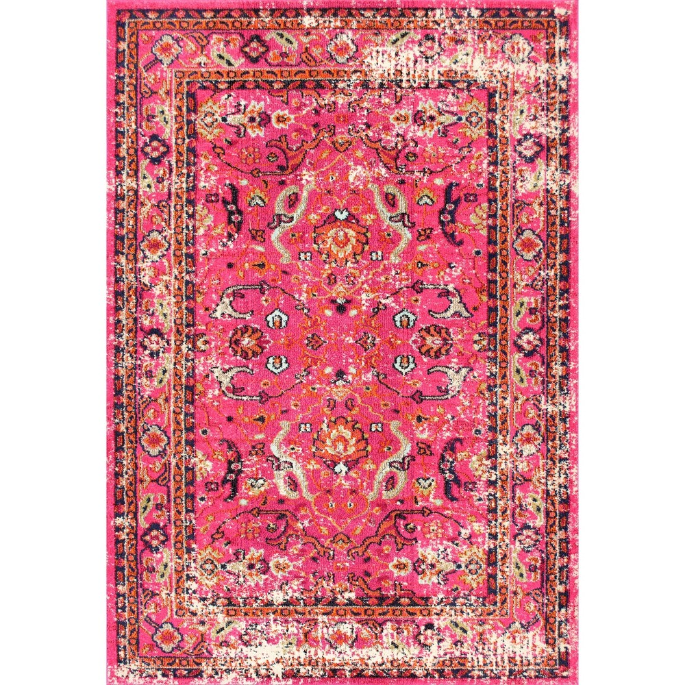 Image of 3'X5' Solid Area Rug Pink - nuLOOM