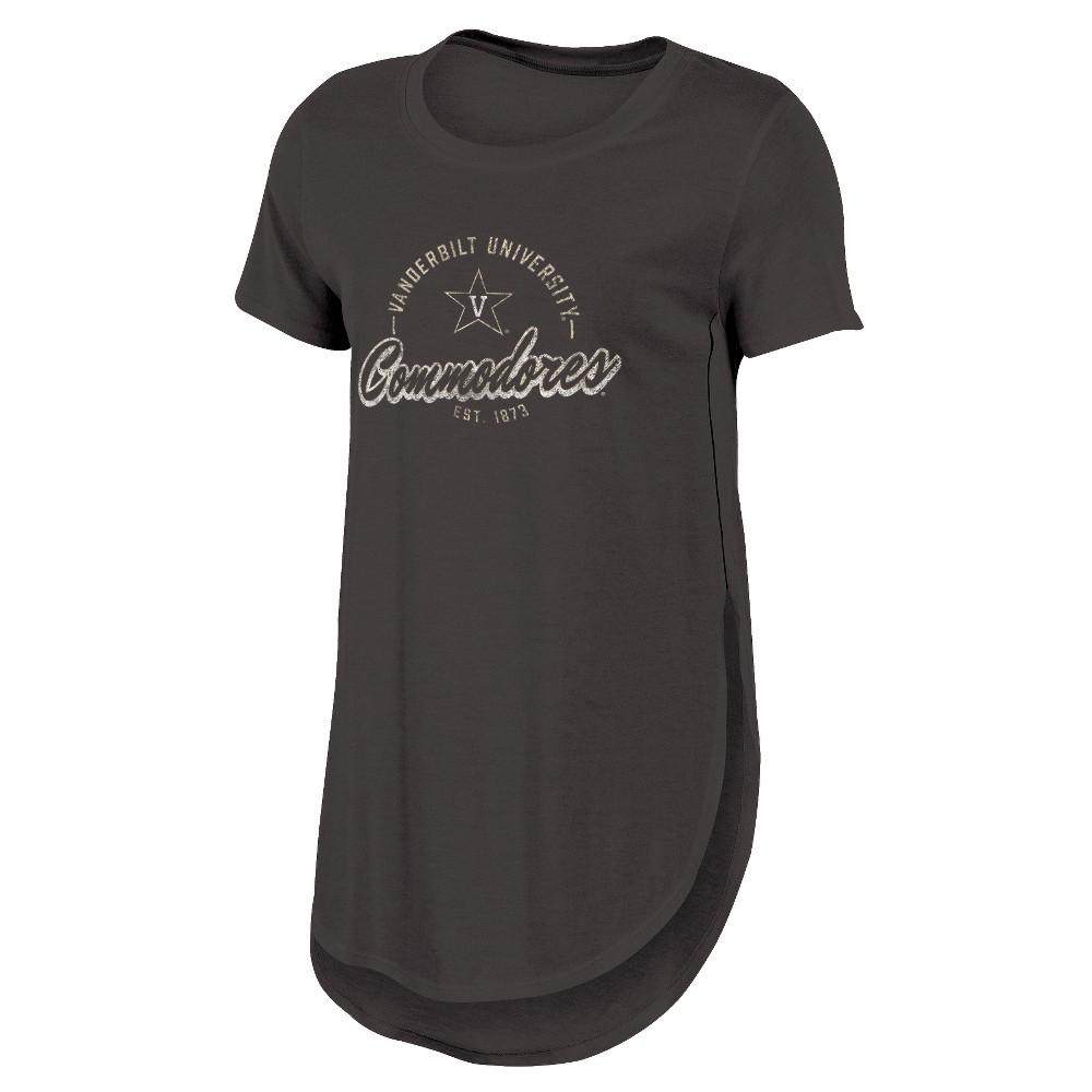 Vanderbilt Commodores Women's Heathered Crew Neck Tunic T-Shirt - M, Multicolored