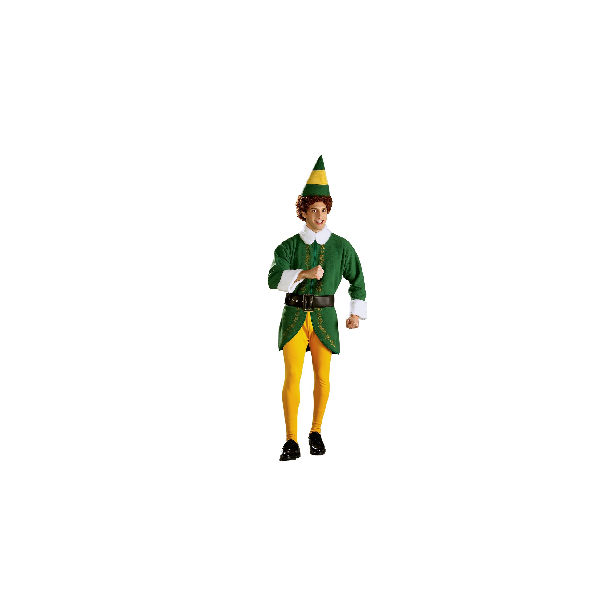 Halloween Men's Buddy Elf Costume XL, Size: XL, Gold/Green/Yellow