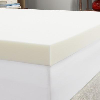 Foam mattress topper Inch Target 4 Memory Foam Mattress Topper Authentic Comfort Target