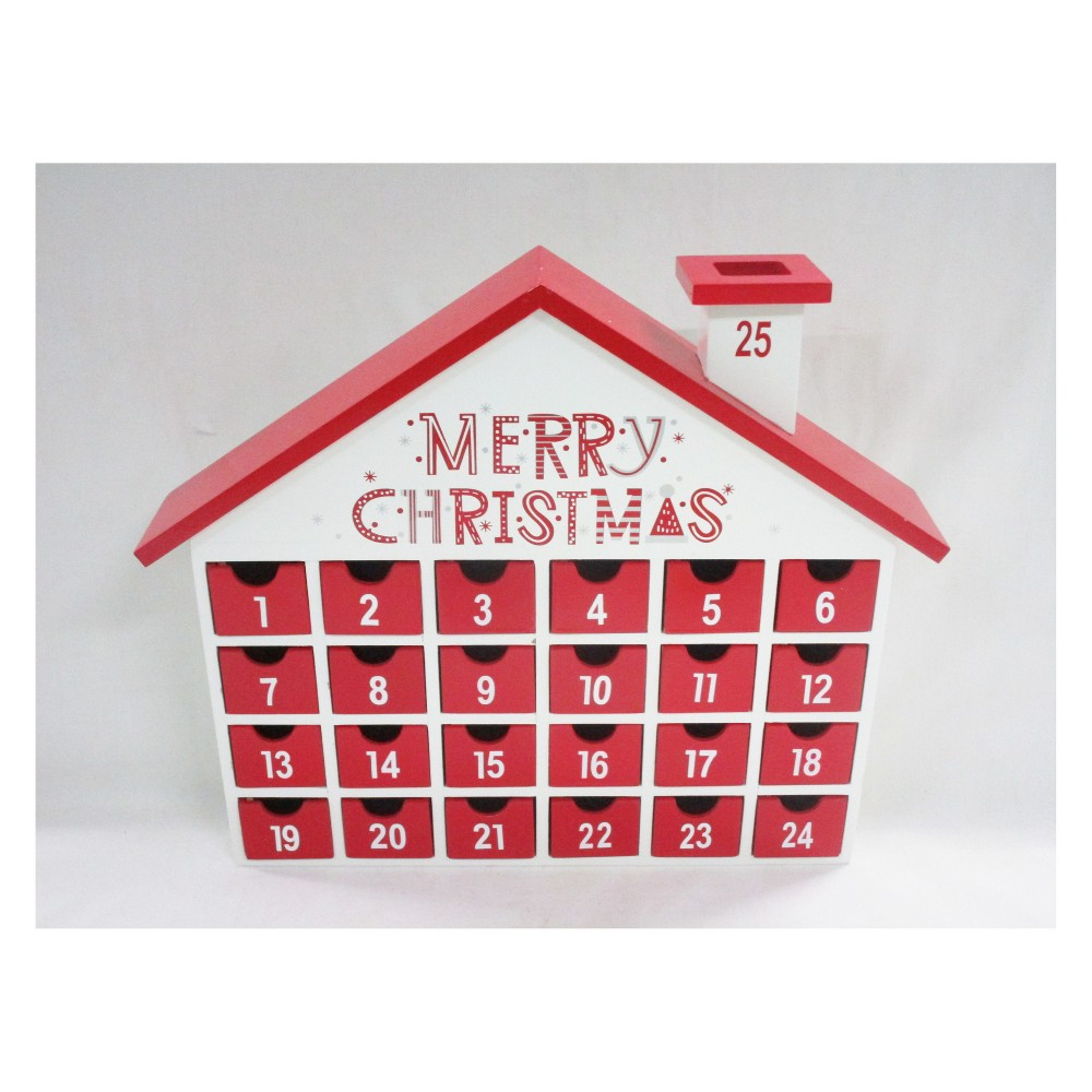 Merry Christmas Countdown House Advent Calendar with Drawers - Wondershop