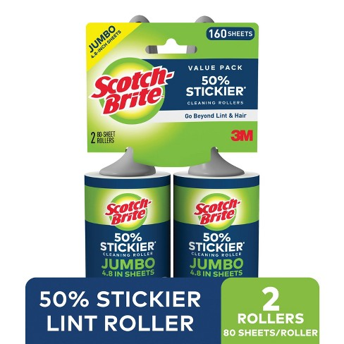 Scotch- Brite Extra Large Lint Rollers - 2pk, 80 Sheets - image 1 of 4