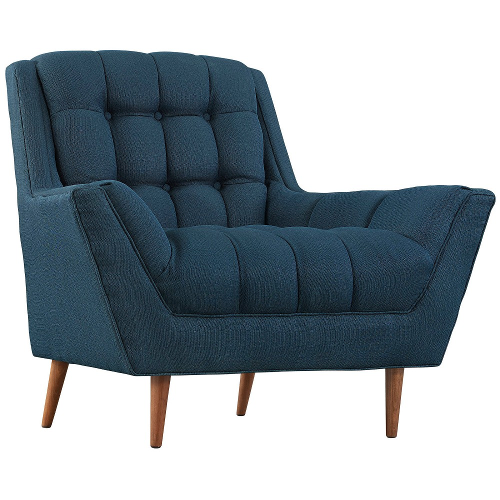 Response Upholstered Fabric Armchair Azure (Blue) - Modway
