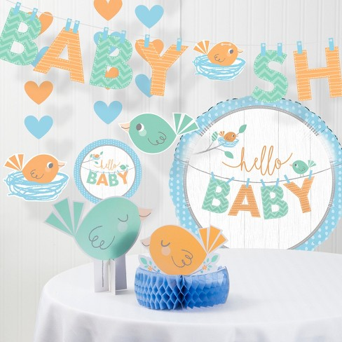 Hello Baby Boy Decorations Party Kit Blue - image 1 of 1