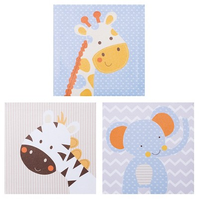 Trend Lab Canvas Wall Art 3pk - Jungle Fun