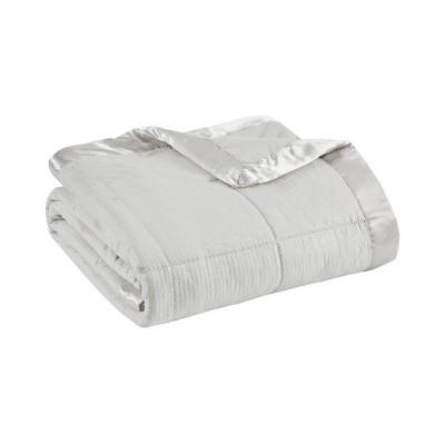 Bed Blanket Parkman Premium Oversized Hypoallergenic Down Alternative with 3M Scotchgard (Twin)Gray