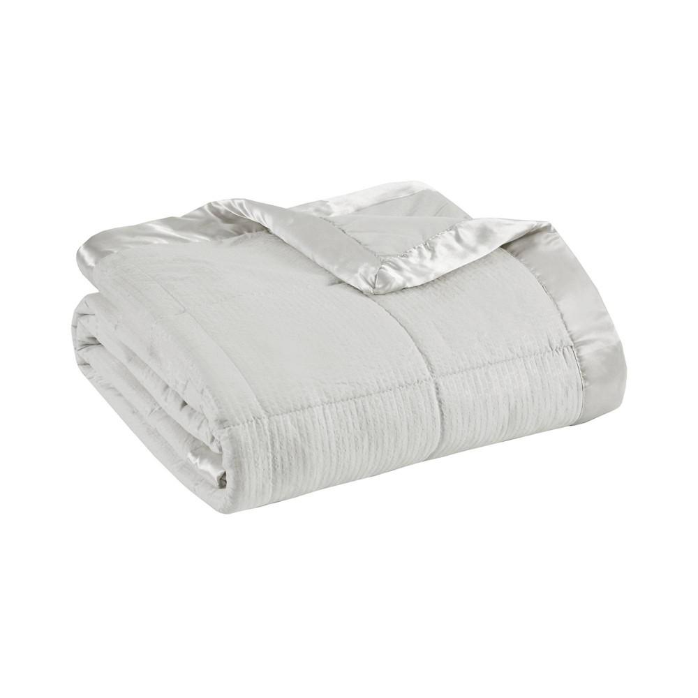 Bed Blanket Parkman Premium Oversized Hypoallergenic Down Alternative With 3m Scotchgard Full Queen Gray