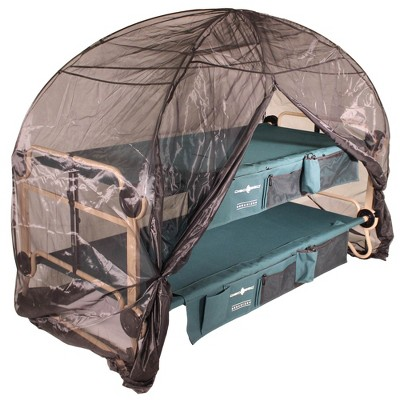Disc-O-Bed Large Cam-O-Bunk Benchable Bunked Double Cot + Mosquito Net and Frame