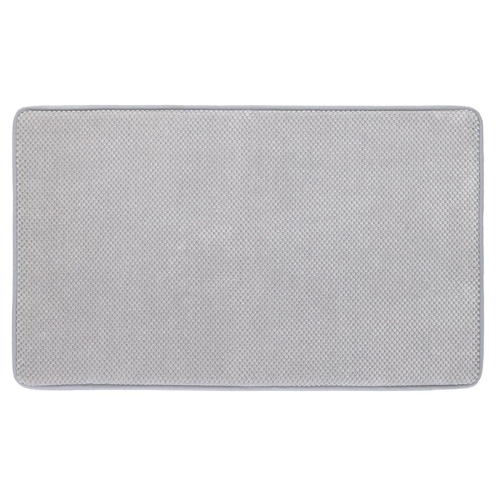 Memory Foam Bath Mat - Gray - 20