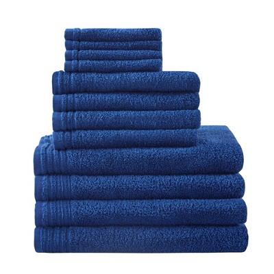 12pc Big Bundle Cotton Bath Towel Set Navy