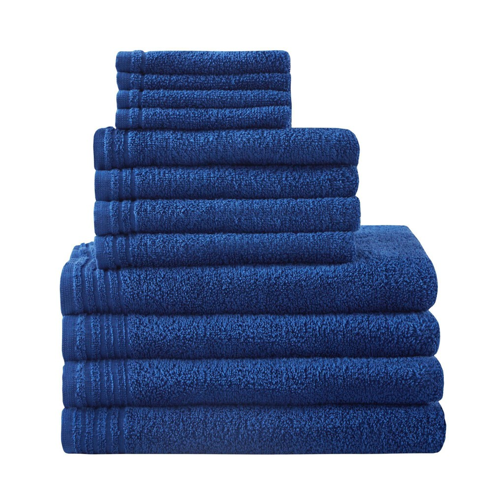 Image of 12pc Big Bundle Cotton Bath Towel Set Navy